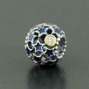 NEW Authentic Pandora Silver Gold NIGHT SKY Starry